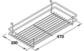 Set 2 Cesti CLASSIC per mobile cucina estraibile DSA Modulo 300 mm