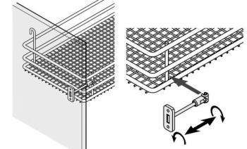 Stabilizzatore per ante 600 mm per telaio ad angolo WaCo