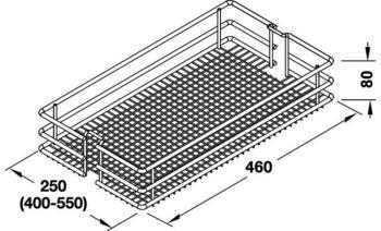 Set 2 Cesti Saphir Cromo HSA Modulo 600 mm