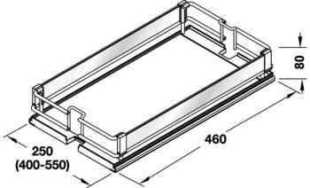 Set 3 Cesti Premea Glassline HSA Modulo 600 mm