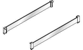 Set inserti laterali in cristallo trasparente per mensole colonna HSA + Clip