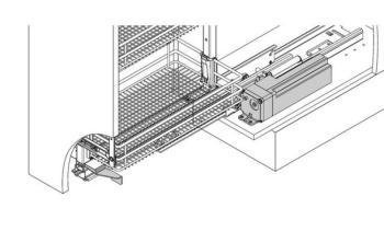 Motore elettrico aprianta accessorio per colonna HSA.