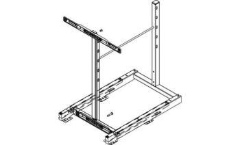 Telaio Base Liner estraibile frontale per mobili cucina Modulo 600 mm