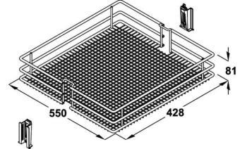 Cesto per meccanismo estraibile frontale Base Liner modello Saphir