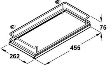 Mezzo Cesto per meccanismo estraibile frontale Base Liner modello Premea Glassline