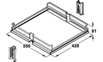 Cesto per meccanismo estraibile frontale Base Liner modello Premea Glassline