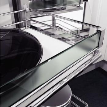 Set sponde in vetro Glassline WaCo + Clip Accessori per cesti Premea