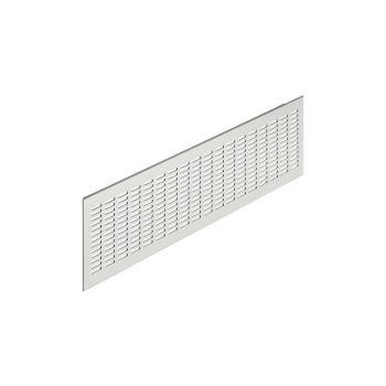 Griglia rettangolare da incasso in alluminio anodizzato mm 480 X 80 marrone