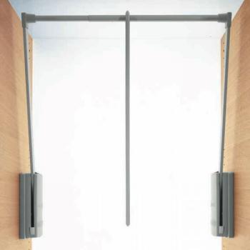 SERVETTO 2004 originale regolabile da mm 600 a mm 1000  finitura Grigio e Alluminio portata 10 kg