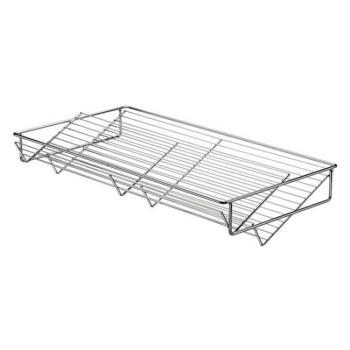 Cestello Portascarpe in acciaio per armadio per larghezza mobile 900 mm Cromo lucido