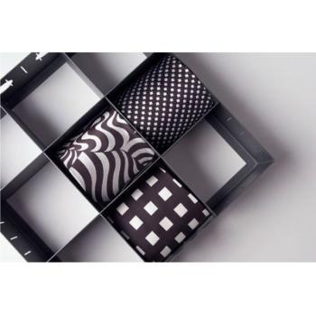 Portacravatte multiplo per cassetti 9 scomparti 300 x 300 x 69 mm Grigio