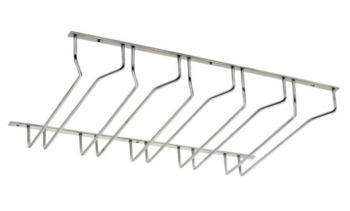 Portabicchieri sospeso Set da 5 acciaio inox Le Fabric 300 x 500 mm finitura Spazzolato opaco