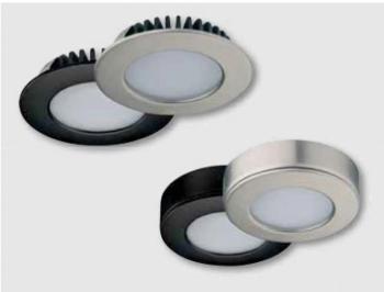Lampade LED ad incasso sottopiano - Lampada LED2020 12V/3,2W 6000K Nichelato opaco