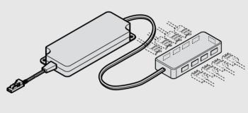Miscelatore multi-white con distributore a 8 vie | LED 3017 - strip LED flessibile multi-white