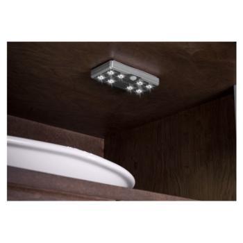 Lampade a batteria - LED 9004 BATTERIA RICARIBILE USB ricaricabile con sensore di movimento Argento