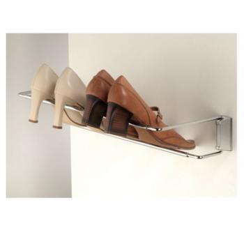 Porta scarpe a parete regolabile in lunghezza da 460 a 750 mm Cromo