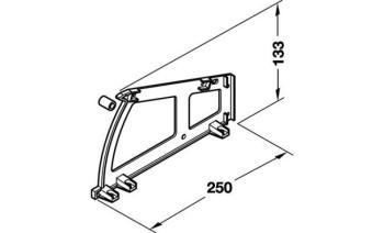 Porta scarpe da inserire in armadi per laterale armadietti 1 ripiano H 133 mm Bianco