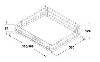 Cesto Premea Glassline VSA Modulo 450 mm