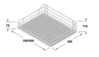 Cesto Saphir VSA Cromo Modulo 600 mm
