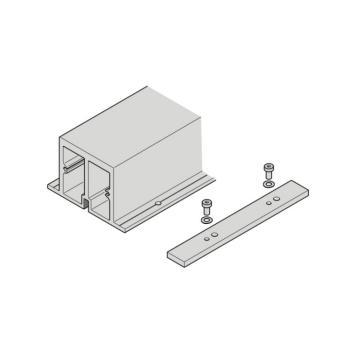 Profilo di rinforzo con piastra di giunzione per binario di scorrimento 2600 mm