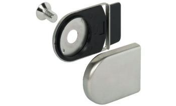 Contro piastra nichelato opaco per serratura da vetro