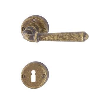 Hoppe serie Elba Maniglia per porta interna rosetta bocchetta Normale Ottone bronzato antiqua