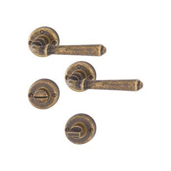 Maniglia per porte bagno / WC Hoppe serie Elba in Argento Antica