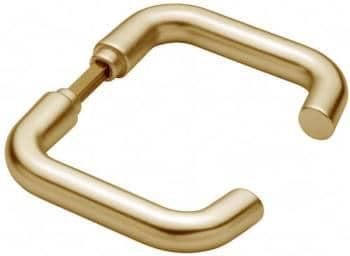 Maniglia per porta interna Hoppe serie Baden Bronzo senza rosette e bocchette
