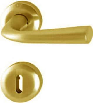 Hoppe  serie Sofia Maniglia per porta interna rosetta bocchetta normale  ottone resista