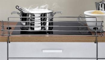 Protezione per zona cottura per cucine 678 x 175 x 140 mm Acciaio