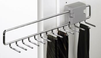 Portacravatte estraibile mm 455 Hettich in Acciaio cromato / plastica grigia