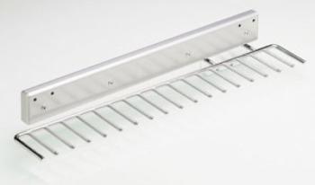 Portacravatte estraibile 130 mm Hettich 17 elementi in Acciaio cromato