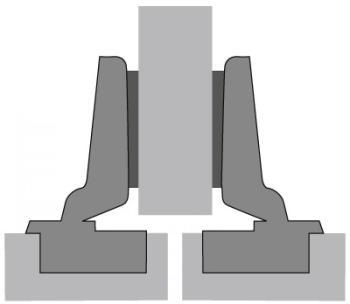 Hettich cerniera sormonto mezzo fianco foro mm. 35