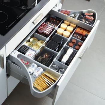 Alette mobili per cassettone cucina Hettich Orgawing Per lunghezze nominali 470 mm