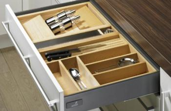 Portaposate per cassetto 520 x 900 legno colore faggio