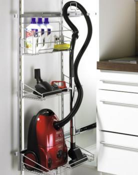 Elemento estraibile per accessori di pulizia Hettich porta scopa elettrica + accessori
