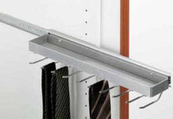 Portacravatte estraibile 450 mm x 89 mm Hettich