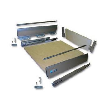 Hettich cassetto kit completo Altezza 144 mm DA ASSEMBLARE  dimensioni 1200 x 470 Bianco