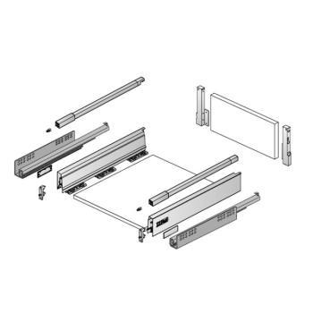 Hettich InnoTech Atira cassetto completo in Kit solo Da Assemblare H 176 mm 1200 x 470 mm Bianco