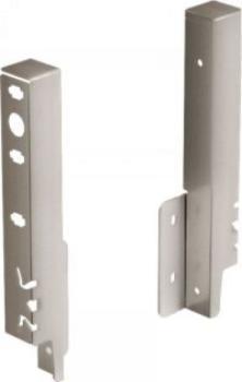 kit attacco per pannello posteriore mm 186 argento