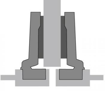 Cerniera a molla con montaggio a scatto Hettich mm. 26 sormonto mezzo fianco