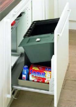 Hettich porta rifiuti capienza 48 litri per mobili profondita mm 500 e larghezza da mm 550 a 600 mm