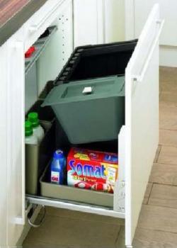 Hettich porta rifiuti capienza 51 litri per mobili profondita mm 550 e larghezza da mm 550 a 600