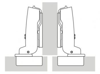 Cerniere a scodellino per mobile Hettich mm 35 ammortizzata Sormonto mezzo fianco 110 gradi