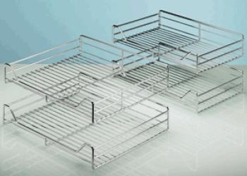 Hettich kit 4 piani filo di acciaio per moving corner argento