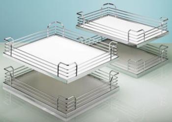 Hettich kit 4 piani ARENA CLASSIC per moving corner argento