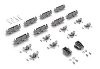 Kit aggiuntivo di montaggio InLine XL larghezza anta 750 - 1044 mm