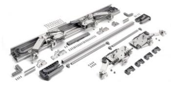 Kit In Line XL 2 ante larghezza anta 1900 - 2000 mm 60 Kg