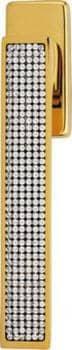 Maniglia per finestra Dk Linea Calì Serie Zen Mesh con Cristalli Swarovski Oro Zecchino
