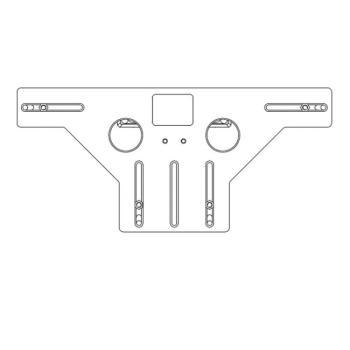 Dima fresa supporto cerniera e supporto forbice ad incasso fresa 34/anello 40 A4/AB18 legno